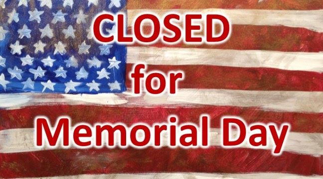 Memorial Day — Library CLOSED