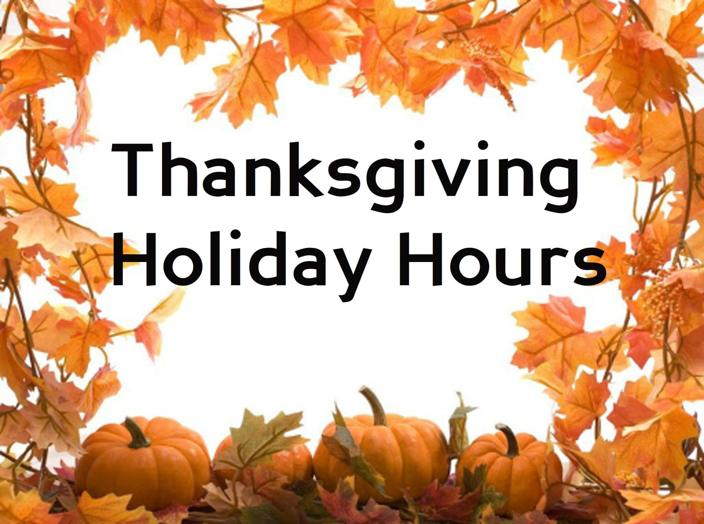 Thanksgiving Eve Library Hours